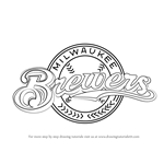 How to Draw Milwaukee Brewers Logo