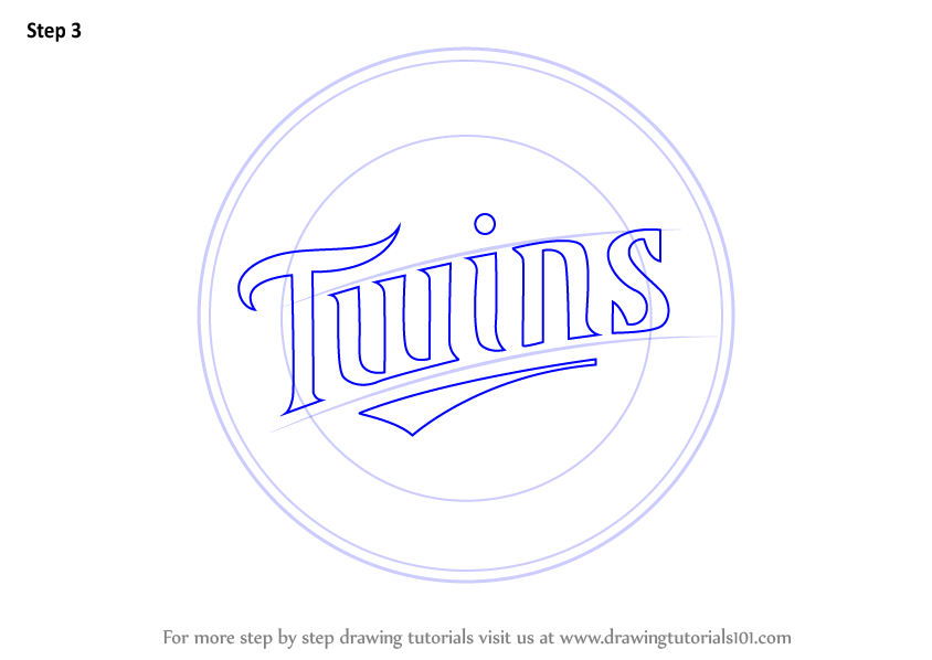 Step By Step How To Draw Minnesota Twins Logo
