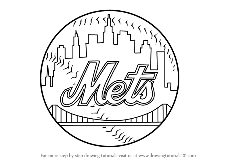 New York Mets Logo Holiday Coloring Pages Red Sox Free Printable
