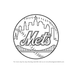 How to Draw New York Mets Logo