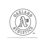 How to Draw Oakland Athletics Logo