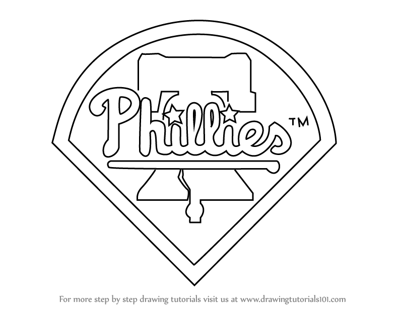 Step By Step How To Draw Philadelphia Phillies Logo