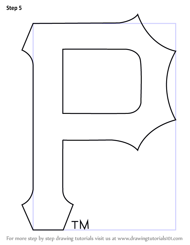 Step By Step How To Draw Pittsburgh Pirates Logo