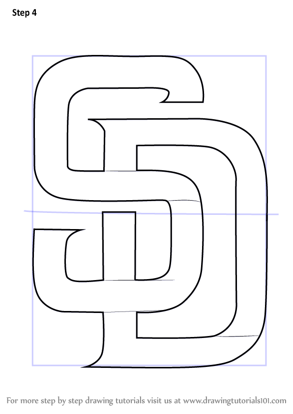 Learn How To Draw San Diego Padres Logo Mlb Step By Step