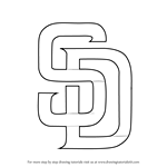 How to Draw San Diego Padres Logo