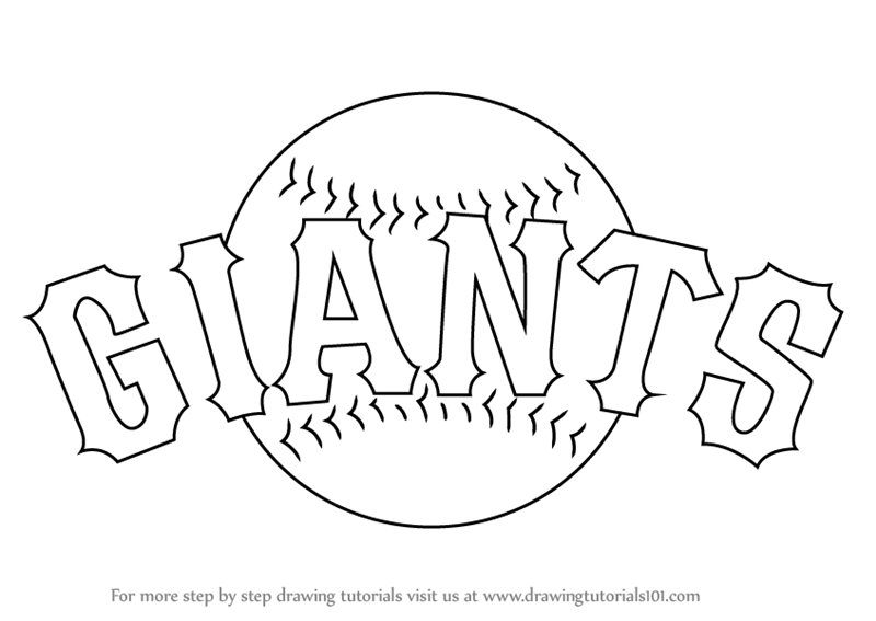 Learn How to Draw San Francisco Giants Logo (MLB) Step by Step ...