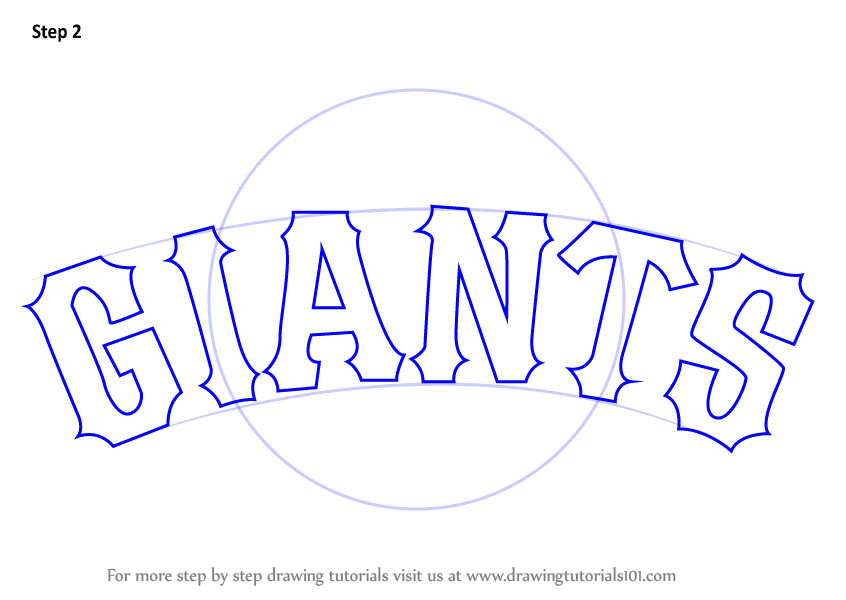 Learn How To Draw San Francisco Giants Logo Mlb Step By