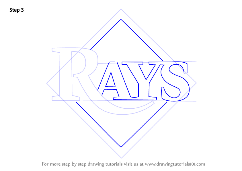 Learn How To Draw Tampa Bay Rays Logo Mlb Step By Step