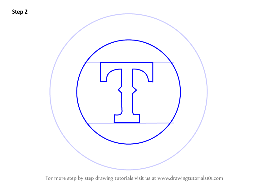 Learn How To Draw Texas Rangers Logo Mlb Step By Step