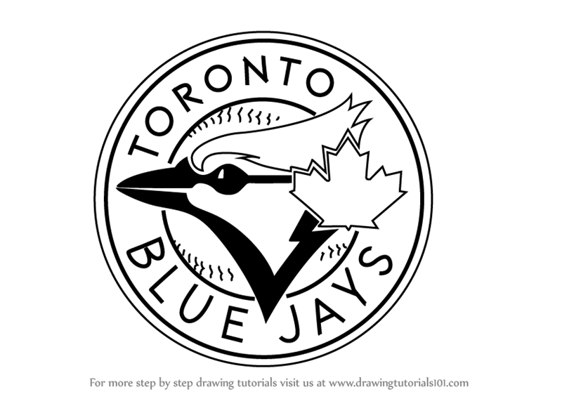 Learn How To Draw Toronto Blue Jays Logo Mlb Step By