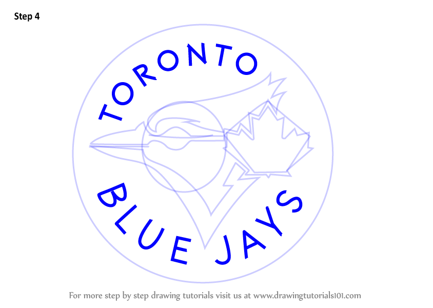 Learn how to draw toronto blue jays logo mlb step by for Draw my logo