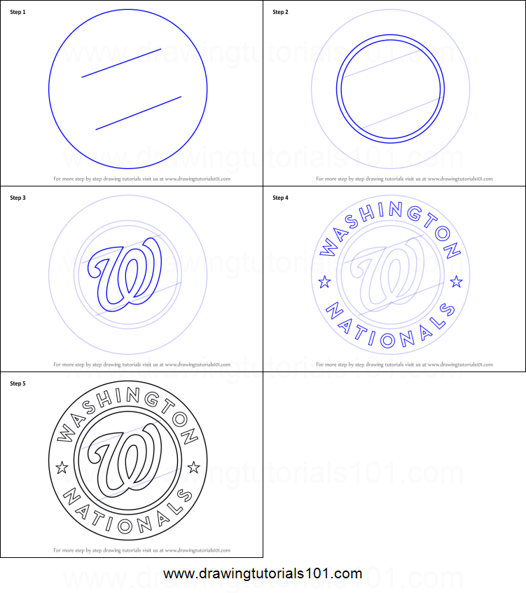 photo about Washington Nationals Printable Schedule named How in direction of Attract Washington Nationals Emblem printable phase via stage