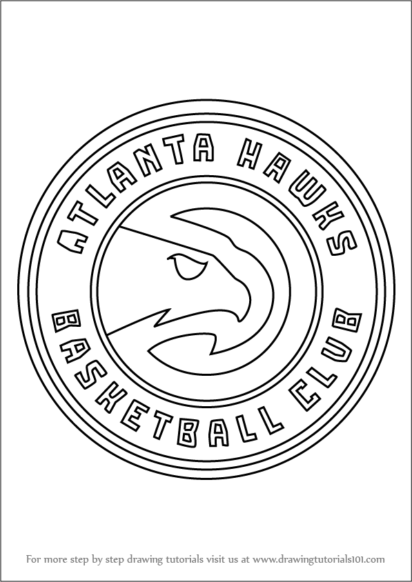 image relating to Atlanta Hawks Printable Schedule called Discover How in direction of Attract Atlanta Hawks Emblem (NBA) Phase by means of Move