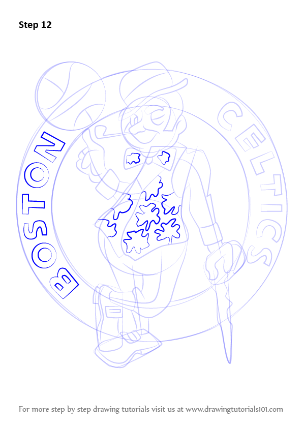 learn how to draw boston celtics logo  nba  step by step