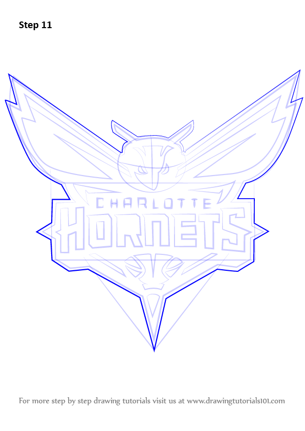 Step By Step How To Draw Charlotte Hornets Logo