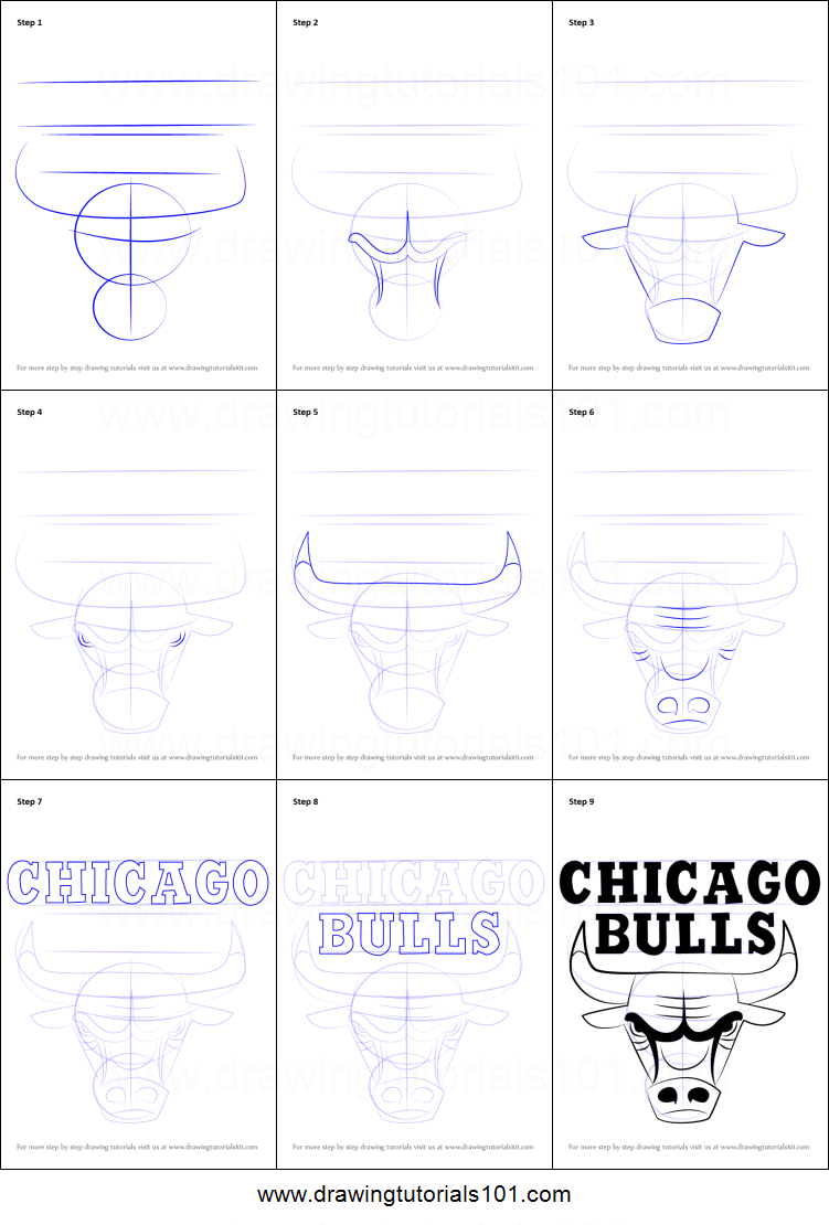 picture about Chicago Bulls Schedule Printable called How in direction of Attract Chicago Bulls Brand printable action by means of stage