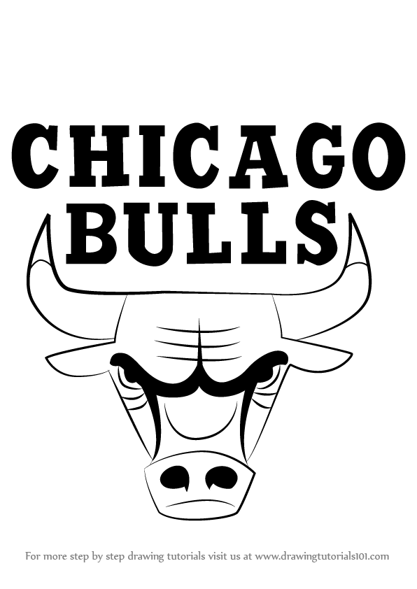 Learn how to draw chicago bulls logo nba step by step for Chicago bulls coloring pages