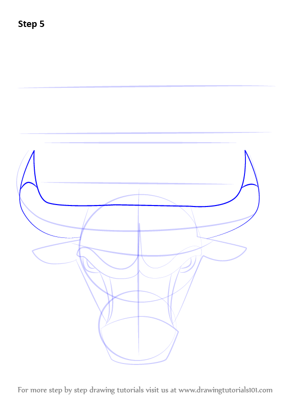 how to draw chicago bulls