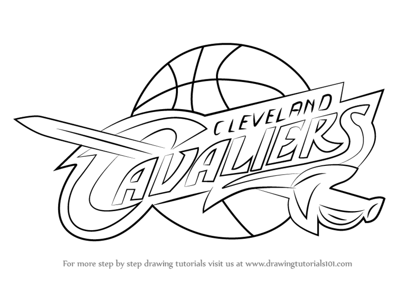 Learn How To Draw Cleveland Cavaliers Logo Nba Step By