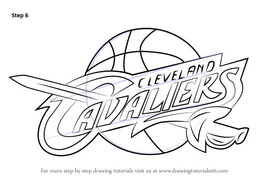 Learn how to draw cleveland cavaliers logo nba step by for Draw logo free