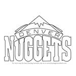 How to Draw Denver Nuggets Logo