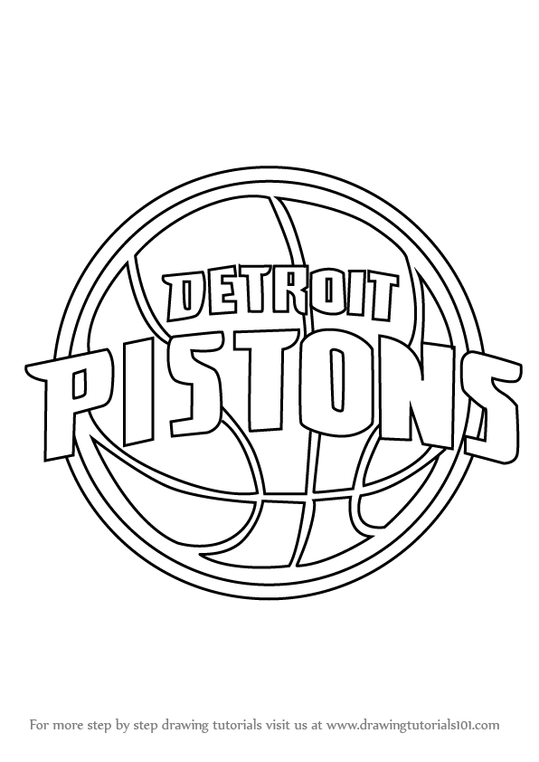 Learn How to Draw Detroit Pistons Logo (NBA) Step by Step ...
