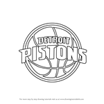 How to Draw Detroit Pistons Logo