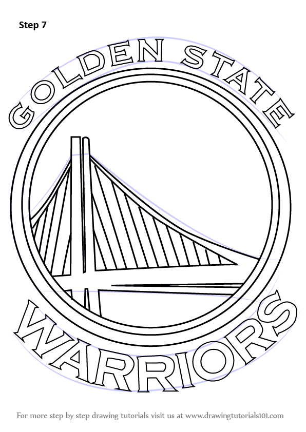 Learn How To Draw Golden State Warriors Logo Nba Step By