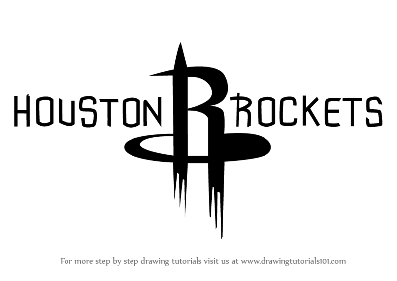 Learn How to Draw Houston Rockets Logo (NBA) Step by Step : Drawing ...