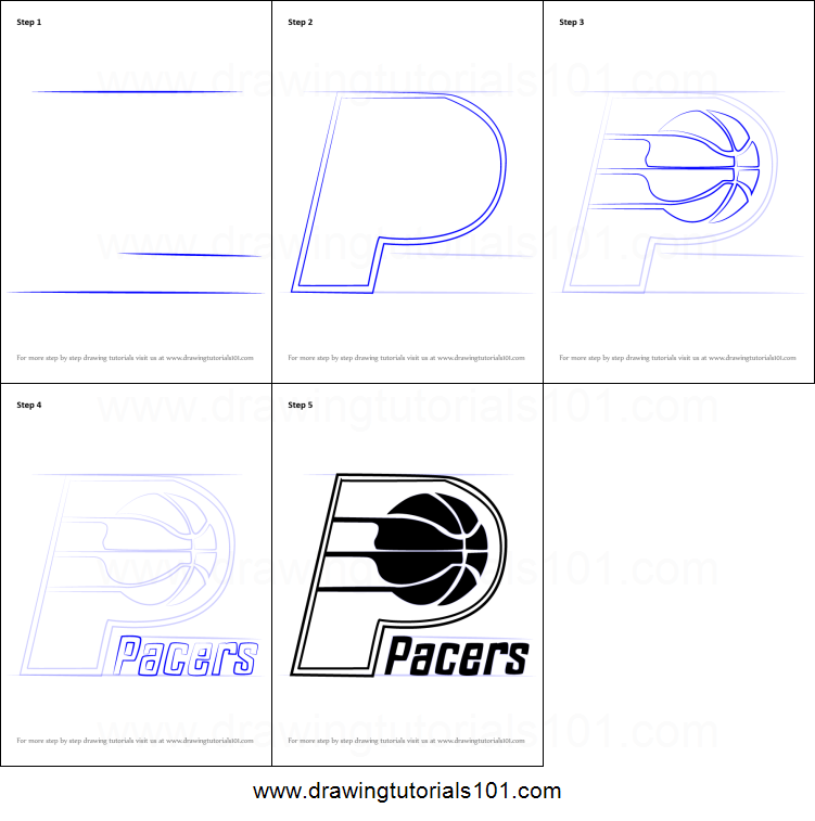 graphic relating to Printable Pacers Schedule identified as How in the direction of Attract Indiana Pacers Brand printable stage by way of move