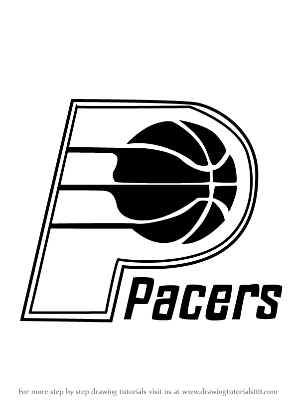 Learn how to draw indiana pacers logo nba step by step for Indiana pacers coloring pages