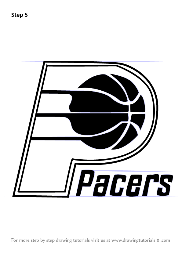 Learn How To Draw Indiana Pacers Logo Nba Step By Step