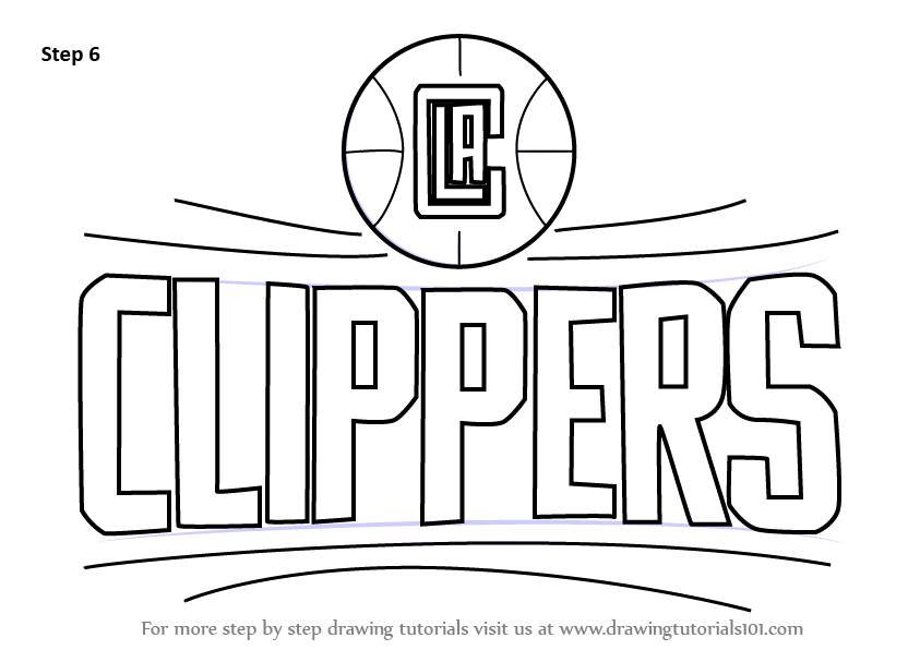 Learn How To Draw Los Angeles Clippers Logo Nba Step By