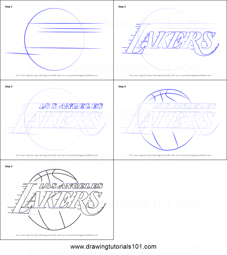 photograph regarding Lakers Printable Schedule titled How in the direction of Attract Los Angeles Lakers Emblem printable move by means of phase
