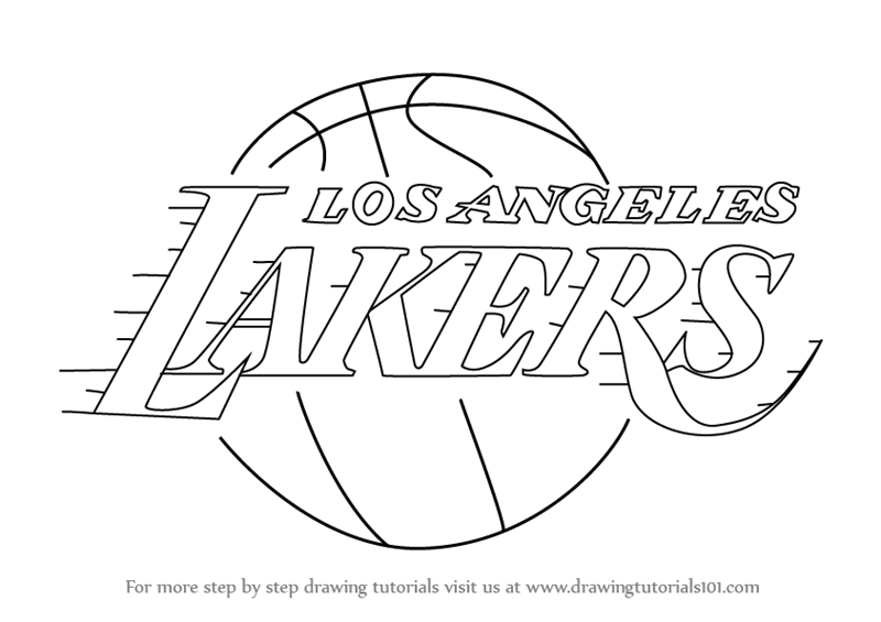lakers logo coloring pages - photo#6