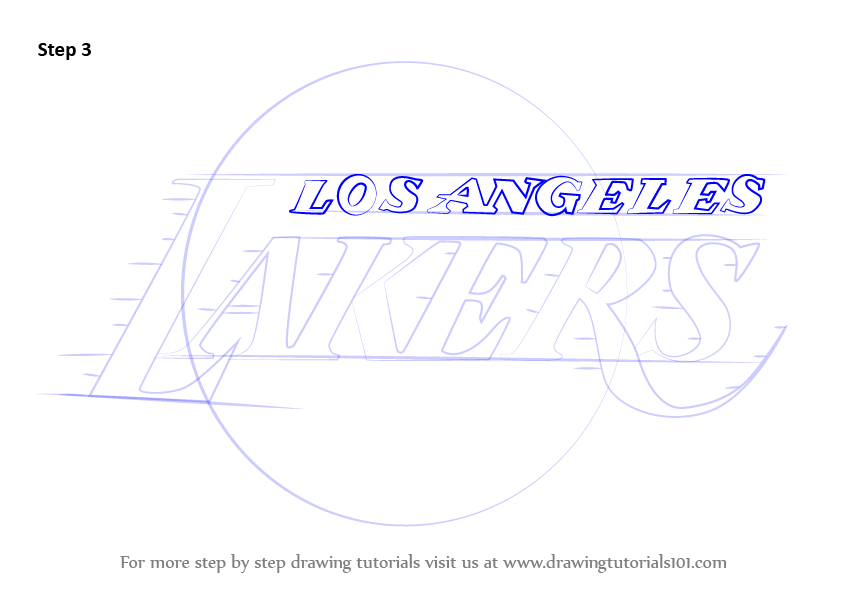 Learn How To Draw Los Angeles Lakers Logo Nba Step By Step