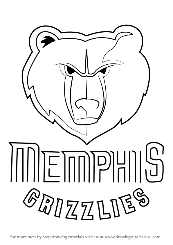 Step by Step How to Draw Memphis Grizzlies Logo
