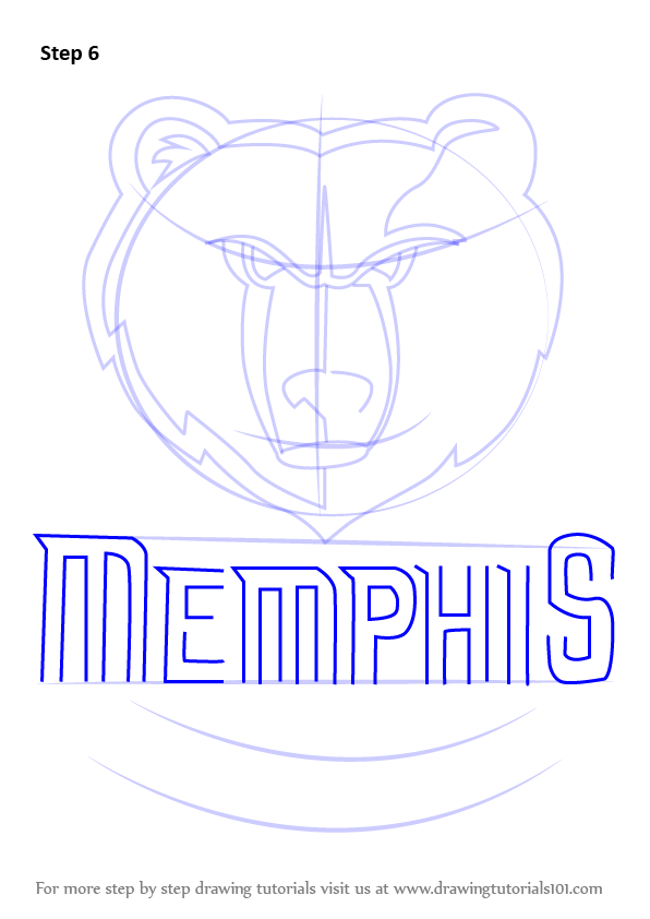 Learn how to draw memphis grizzlies logo nba step by for Draw my logo
