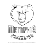 How to Draw Memphis Grizzlies Logo