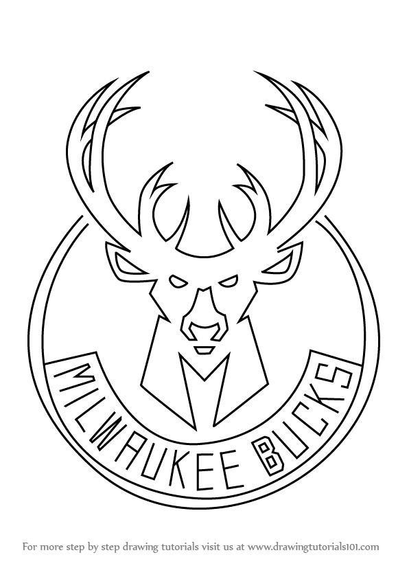 how to draw milwaukee bucks basketball logos   milwaukee