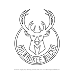 How to Draw Milwaukee Bucks Logo