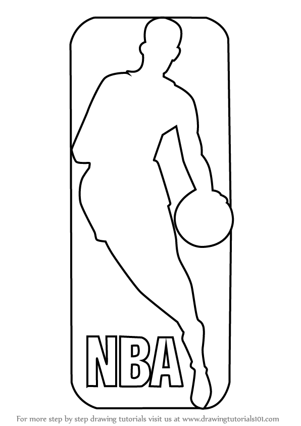 nba team logo coloring pages | Learn How to Draw NBA Logo (NBA) Step by Step : Drawing ...