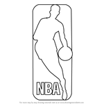 How to Draw NBA Logo
