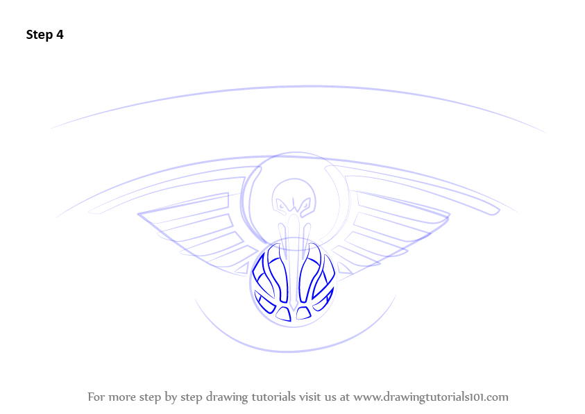 Learn How to Draw New Orleans Pelicans Logo (NBA) Step by