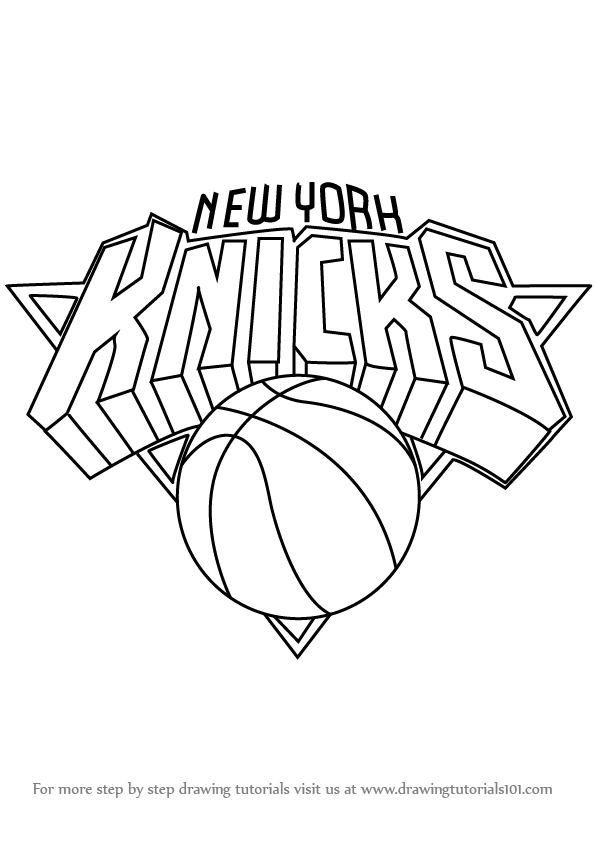 Learn how to draw new york knicks logo nba step by step for Draw my logo