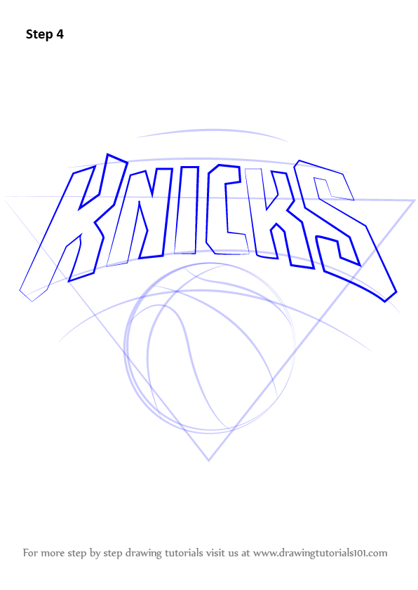 Learn How To Draw New York Knicks Logo NBA Step By Step Drawing Tutorials