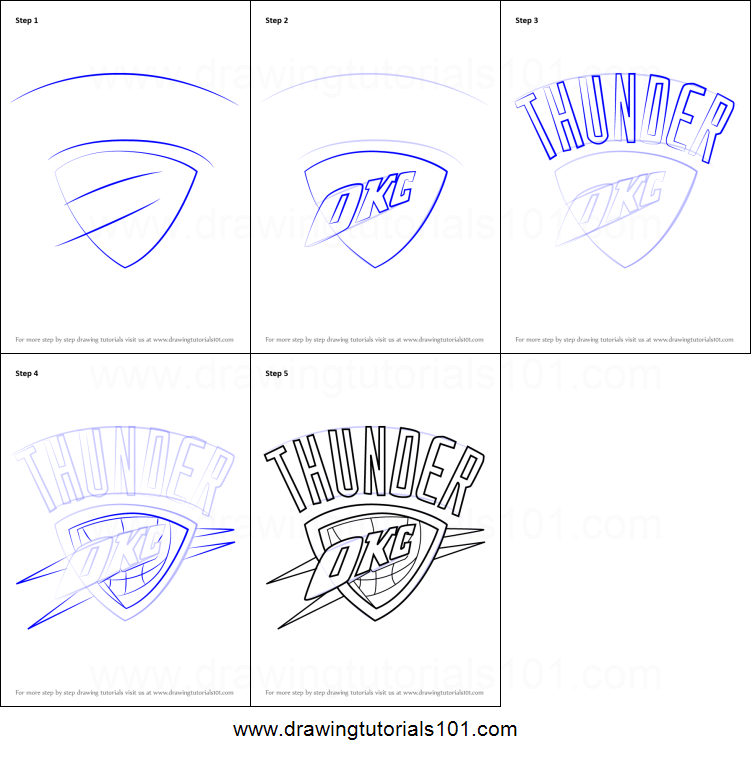 picture about Okc Thunder Printable Schedule called How in direction of Attract Oklahoma Town Thunder Brand printable move via