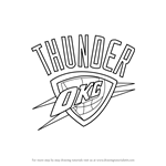 How to Draw Oklahoma City Thunder Logo