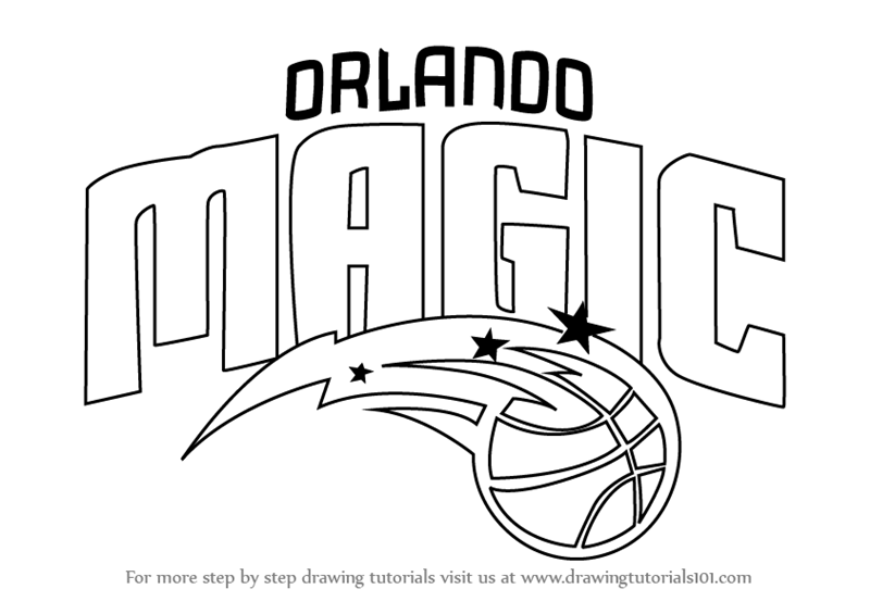 Step By Step How To Draw Orlando Magic Logo