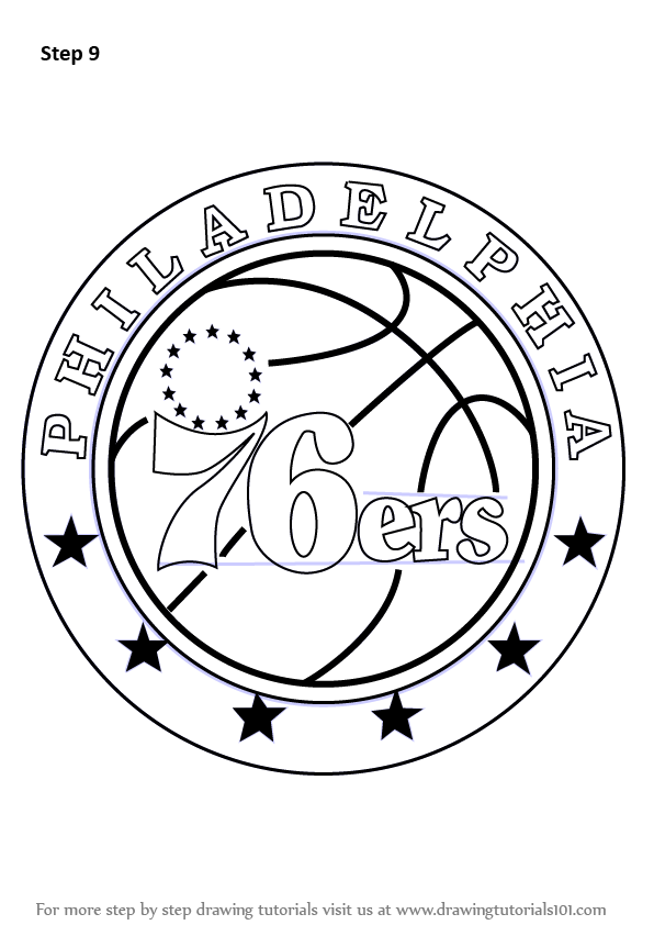 sixers logo coloring coloring pages